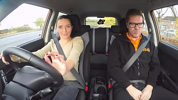 Faux Driving School Hot Euro honies fanny gets fucked